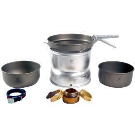 Kogesæt i hård anodiseret aluminium inklusive vindskærme