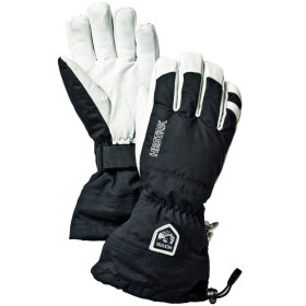 Hestra - Army Leather H Ski 5-finger Black/White