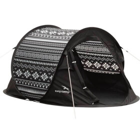 Easy Camp - Pop up telt Antic Tribal Black & Whit