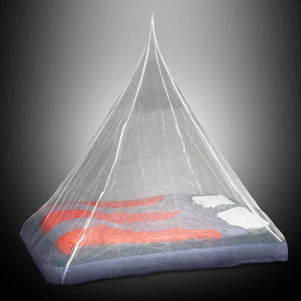 myggenet til dobbeltseng Imprægneret myggetil dobbeltseng   Pyramide myggenet myggenet til dobbeltseng