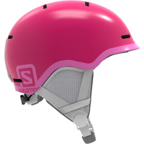 Salomon - GROM Skihjelm Junior Glossy/Pink