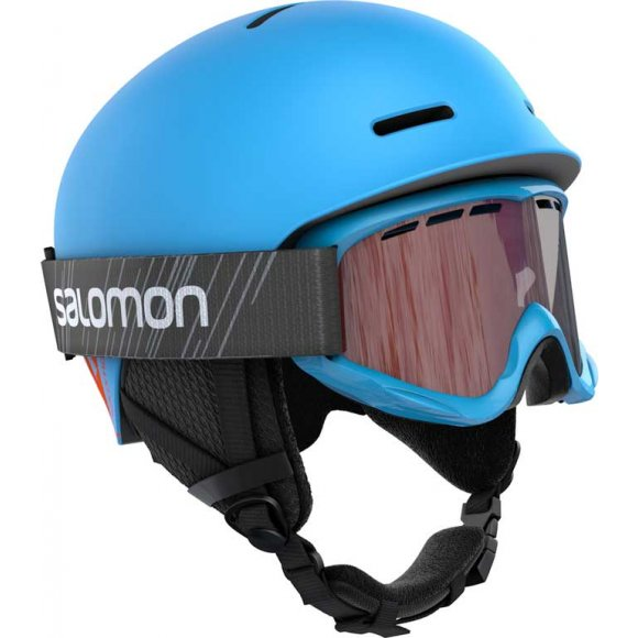 Salomon - Player Combo Hjelm + Goggles Junior Blue