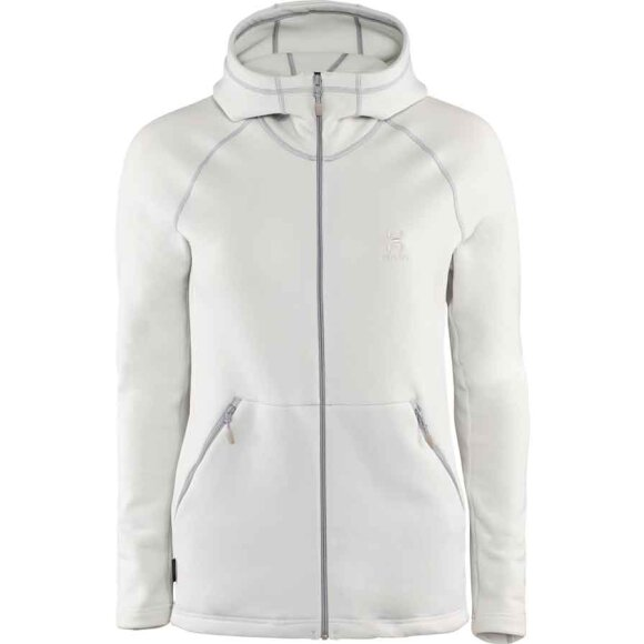 Haglöfs - Blød Bungy Hood Fleece til damer i hvid