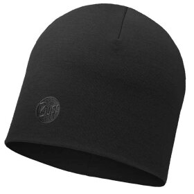 Buff - Heavy Merino Hat Regular Black