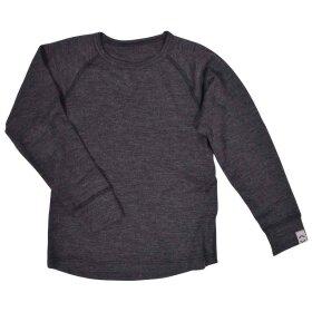 Mikk-Line - Wool Top Lange Ærmer Grey