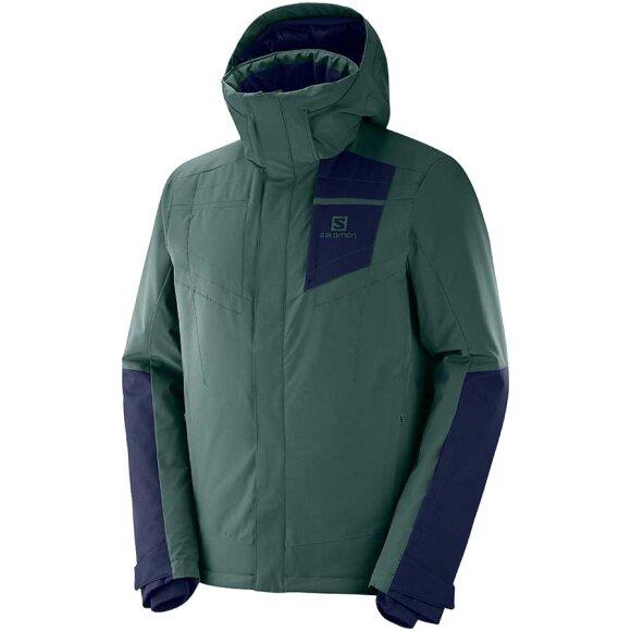 Salomon - Stormstrong Jacket M Green Gables / Night Sky