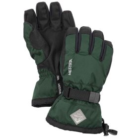 Hestra - Gauntlet CZone Jr 5-finger Bottle Green / Black
