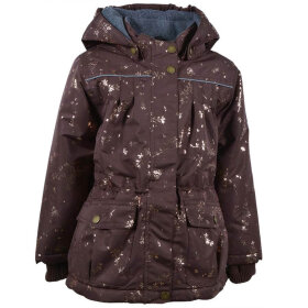 Mikk-Line - Girls Jacket AOP Puce Brown