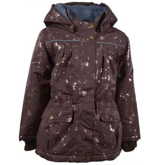 Mikk-Line - Girls Jacket AOP Puce Brown