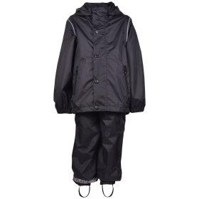Mikk-Line - Rain Set Black med pose i lommen