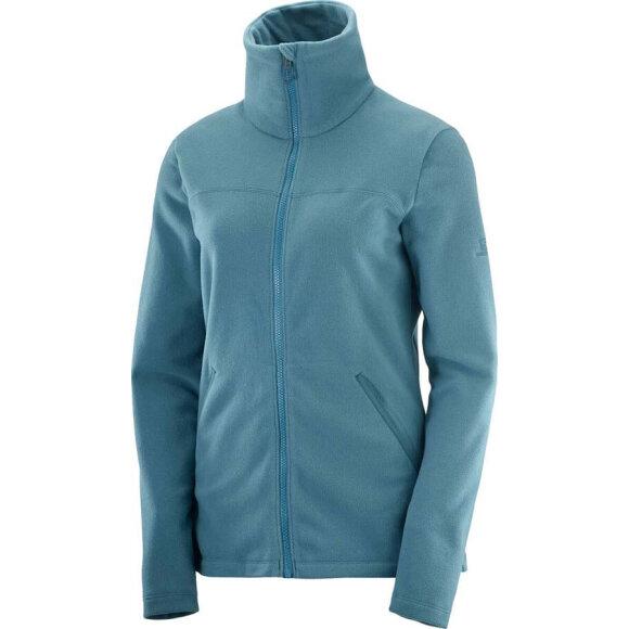 Salomon - Essential Cozy Fleece FZ W Blue